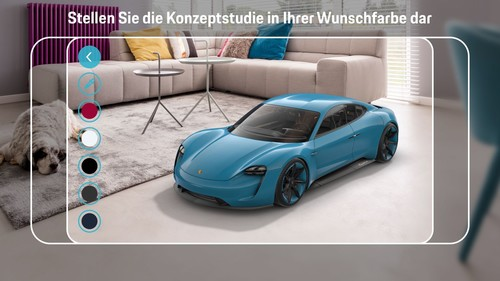 Porsche Mission E Augmented Reality-App.