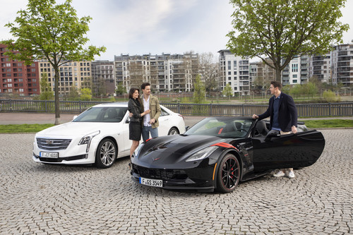 "Mobilitätsservice ""BOOK by Cadillac"" (Cadillac CT6 und Chevrolet Corvette Convertible)."