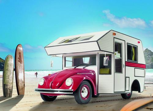 VW Käfer Motorhome von Schuco im Maßstab 1:18