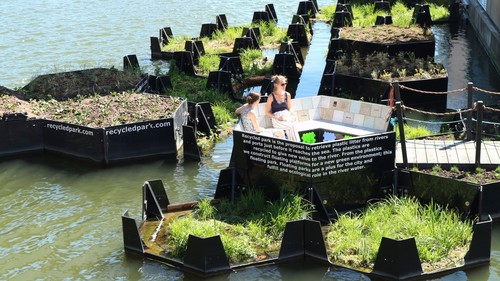 """Floating Park"" in Rotterdam."