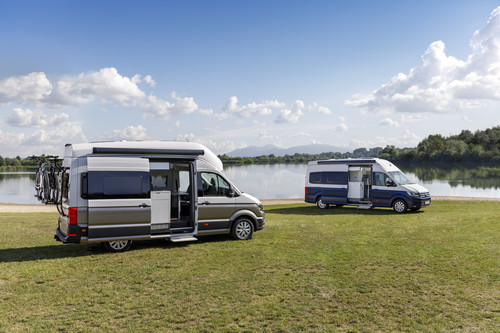 Volkswagen Grand California 600 (l.) und Grand California 680.