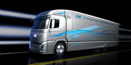 Hyundai Fuel Cell Electric Truck.