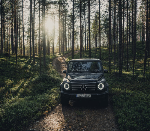 Content Creation Tour mit Mercedes-Benz G-Klasse in Finnland.