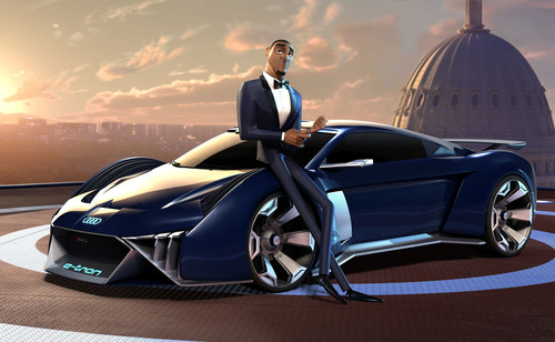 "Audi designt Konzeptauto für Hollywood-Animationsfilm ""Spies in Disguise""."