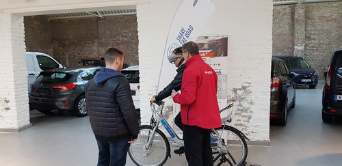 "Ford Virtual Reality Erfahrung ""Share the Road"" bei der Kölner Spritspar-Meisterschaft."