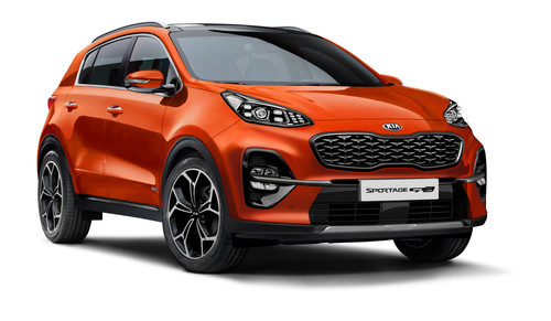 Kia Sportage GT Line in Orange Fusion Metallic.