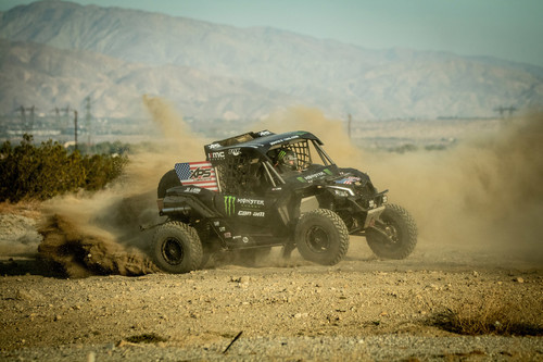 Can-Am Maverick des Teams Monster Energy.