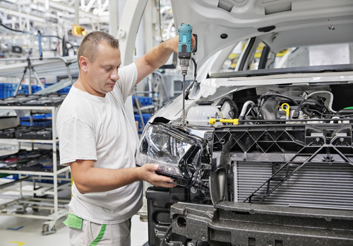 Skoda-Produktion in Tschechien.