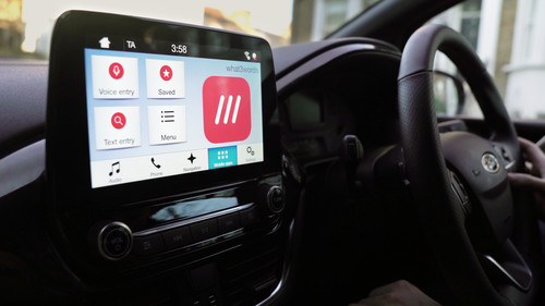 What3words auf Ford Sync 3.