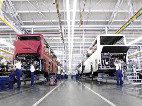 Produktion im Evobus-Werk Neu-Ulm.