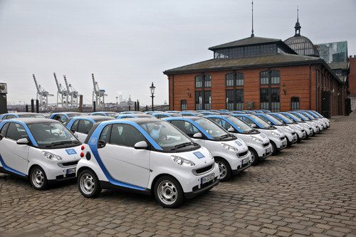 Car2go in Hamburg.
