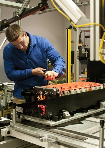 Batterie-Produktion im US-Werk Holland von Johnson Controls-Saft.