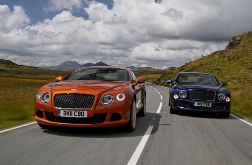 Bentley Continental GT (links) und Mulsanne,