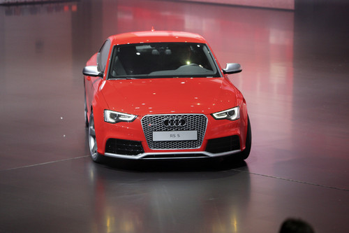 """Audi RS5 bei der Volkswagen-Vorabendversanstaltung """"Driving Diversity""""."""