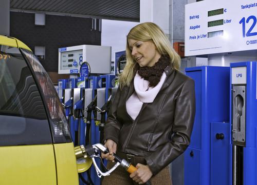 Autogas-Betankung.
