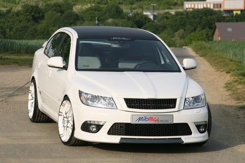 Škoda Octavia II RS mit Tuningteilen von Milotec.