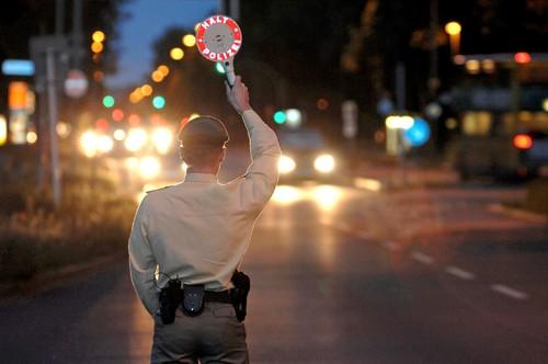Polizeikontrolle.