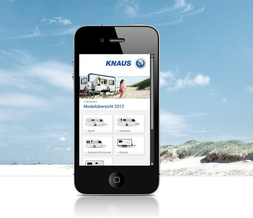 Mobile Website von Knaus.