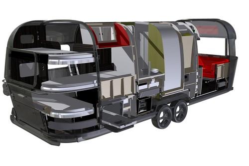 airstream 685 mit familienfreundlichem grundriss auto. Black Bedroom Furniture Sets. Home Design Ideas