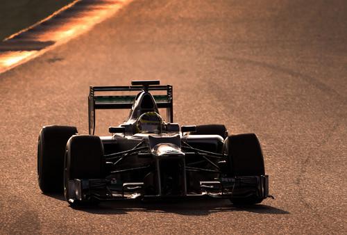 Mercedes AMG Petronas mit Nico Rosberg.
