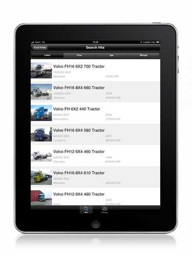Truck Finder App von Volvo Trucks.