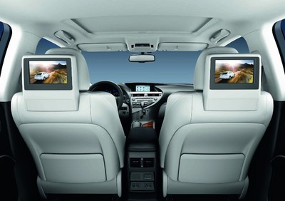 Rear Seat Entertainment-System im Lexus RX 450 h.