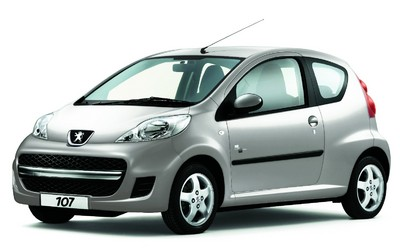 "Peugeot 107 ""Black & Silver Edition""."