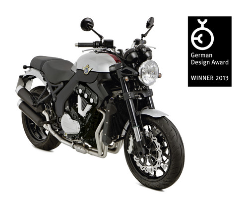 "Die Horex VR6 Roadster erhielt den ""German Design Award 2013""."