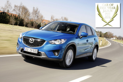"Der Mazda CX-5 ist ""Car of the Year 2012/2013""."