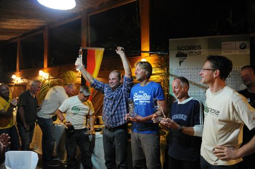 BMW-GS-Trophy 2012. Das Sieger-Team aus Deutschland.