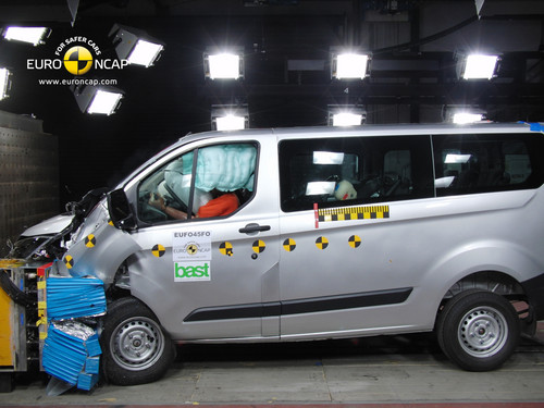 Ford Transit Custom im Euro-NCAP-Crashtest.