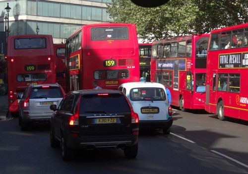 Verkehr in London.