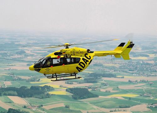 Hubschrauber der ADAC-Luftrettung.