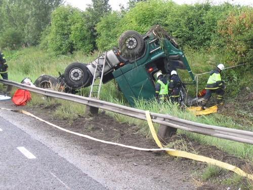 Die meisten Lkw-Unfälle beruhen auf menschlichem Versagen.
