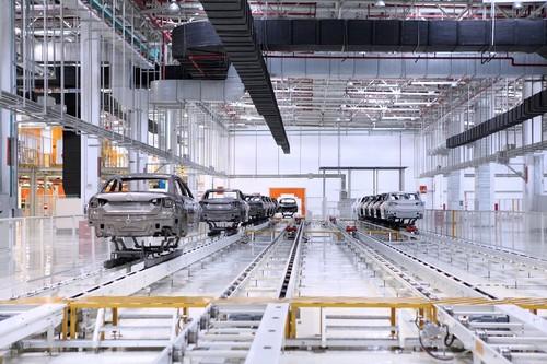 Produktion von Shanghai-Volkswagen (SVW).