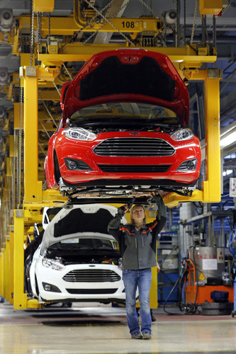 Produktion des Ford Fiesta.
