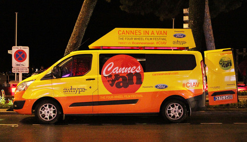 """Cannes in a Van"": Ford Transit Custom."