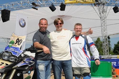 BMW-GS-Trophy: Das Alpenteam (von links) bilden Ernest Heggli, Manfred Preloschnik und Thomas Ringler.
