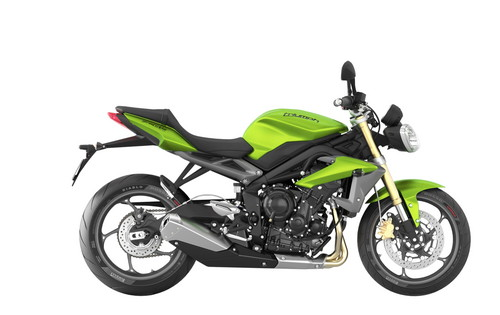 Triumph Street Triple in Cosmic Green.