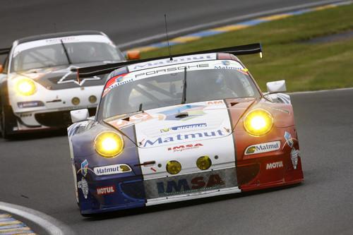Porscheo 911 GT3 RSR vom Team IMSA Performance Matmut.