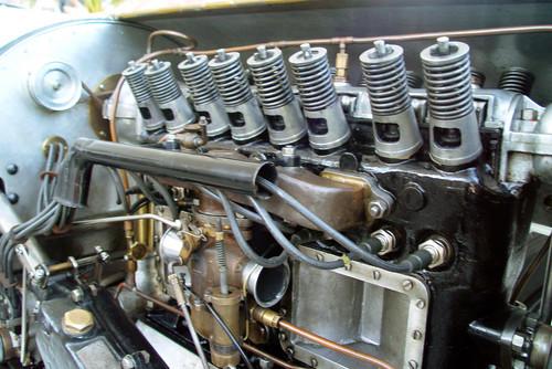 """Grünes Monster"": Opel 12,3-Liter-Grand-Prix-Rennwagen (1913)."