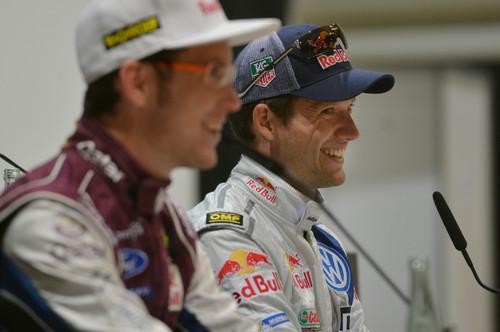 Sébastien Ogier (rechts) und Thierry Neuville.