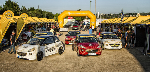 Opel Adam Cup bei der ADAC Rallye Deutschland.