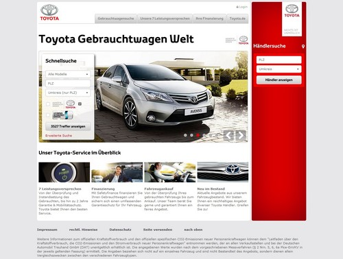 toyota startet gebrauchtwagen welt auto medienportal net. Black Bedroom Furniture Sets. Home Design Ideas