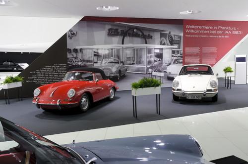 """Sonderausstellung """"50 Jahre 911"""" im Porsche-Museum."""