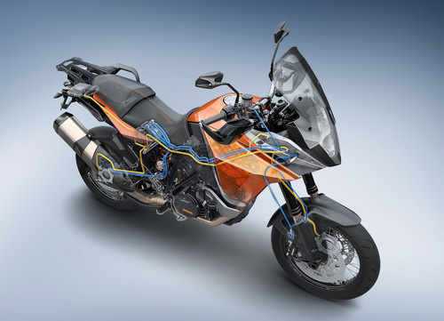 Die Motorcycle Stability Control (MSC) von Bosch kommt erstmals bei KTM in den 2014er-Modellen der 1190 Adventure und der 1190 Adventure R auf den Markt.