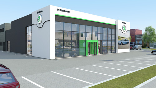 Skoda-Autohaus im neuen Design.