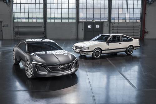 Monza GSE trifft Monza Concept. Opel setzt die Tradition bildschöner Gran Turismo aus Rüsselsheim fort.