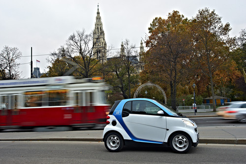Car2go in Wien.