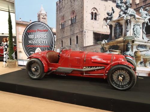 Eindrücke von der Essen Motor Show: Maserati Tipo 4 aus dem Ende der 20ger Jahre mit 16 Zylindern, 3961 ccm Hubraum, 304 PS, 260 km/h.
